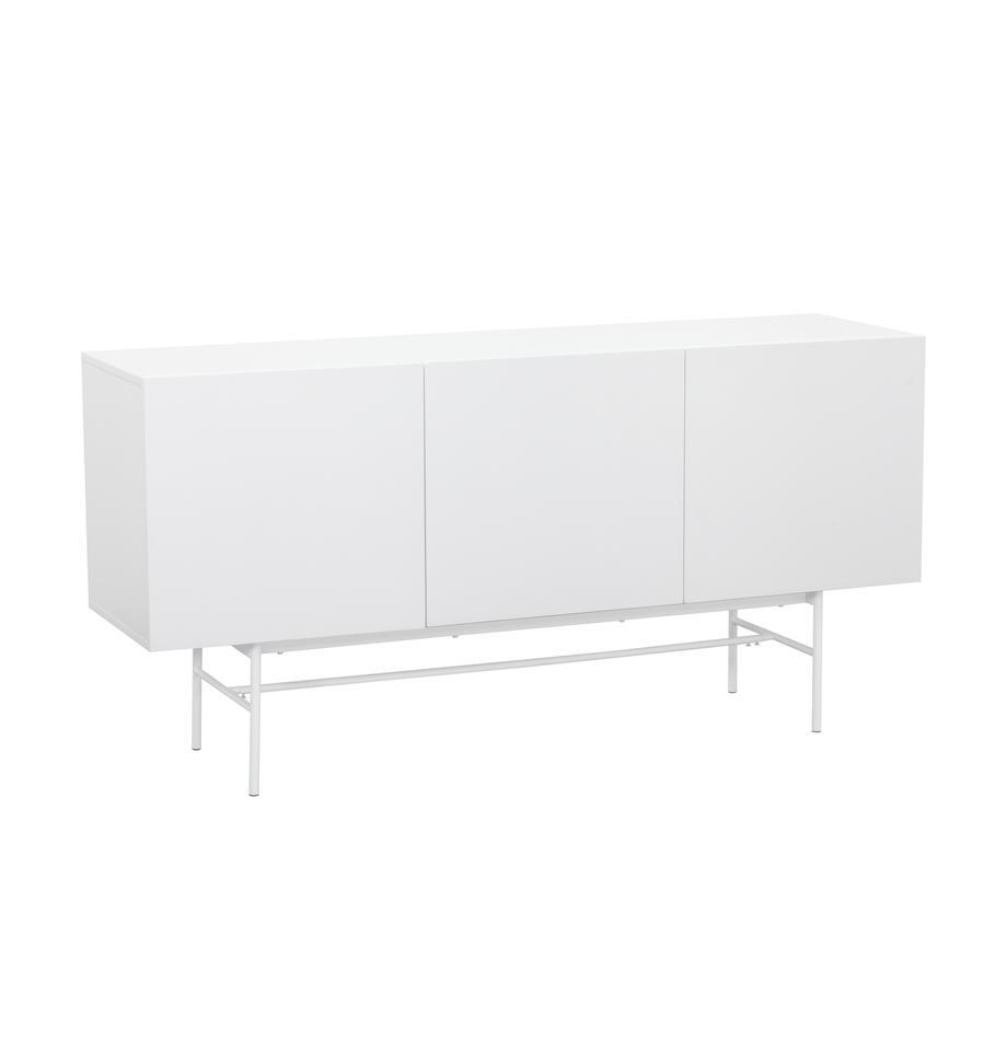 Modernes Sideboard Anders mit Türen in Weiss, Korpus: Mitteldichte Holzfaserpla, Korpus: WeissFüsse: Weiss, matt, 160 x 80 cm