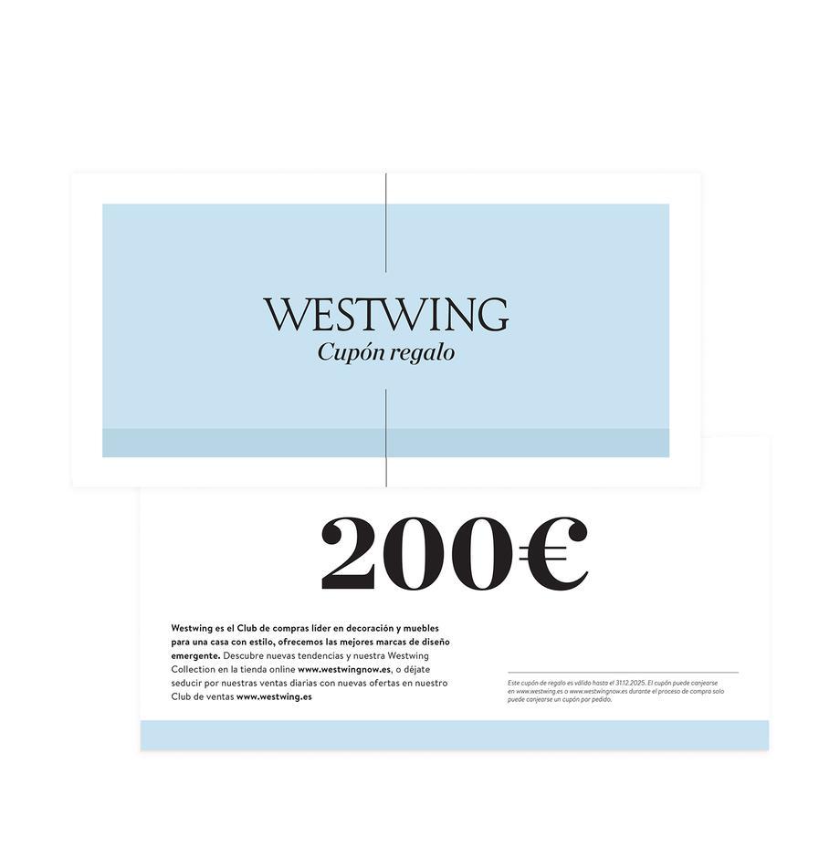 Cupón regalo, Cupón regalo impreso en papel fino dentro en un sobre de alta calidad, Blanco, 200