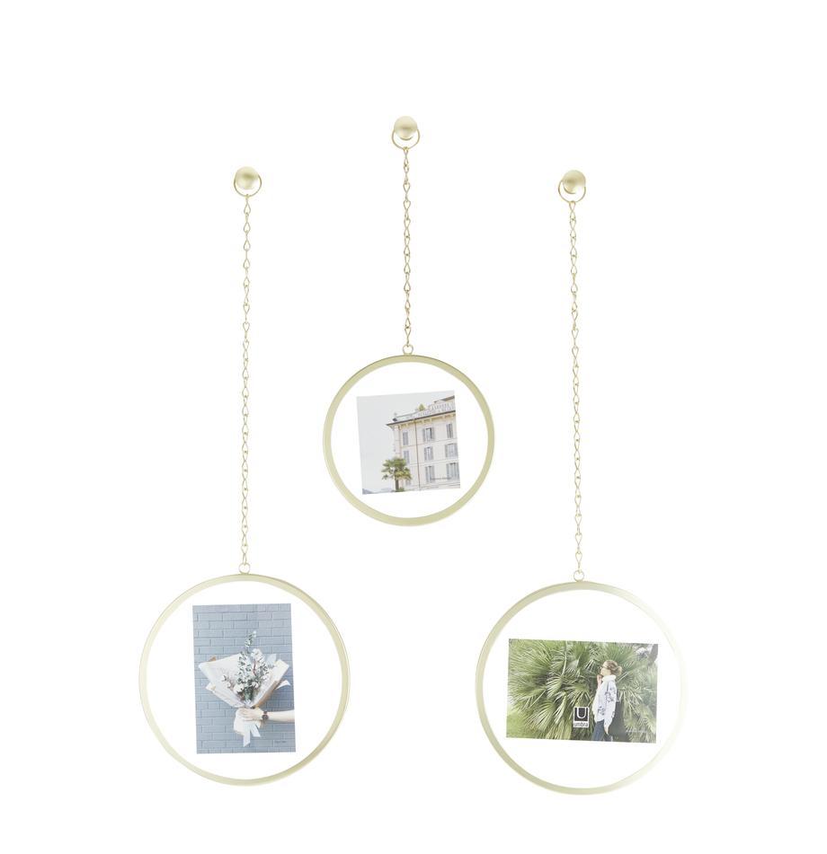 Bilderrahmen-Set Dima, 3-tlg., Metall, beschichtet, Goldfarben, Sondergrößen