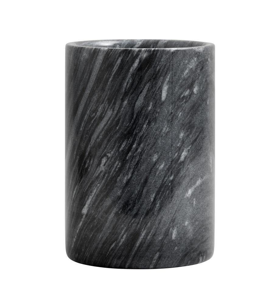 Marmor-Flaschenkühler Marbi in Schwarz, Marmor, Schwarz, Ø 13 x H 18 cm