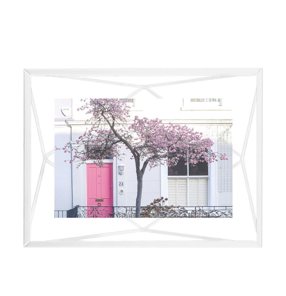 Bilderrahmen Prisma, Rahmen: Stahl, Front: Glas, Weiss, 10 x 15 cm