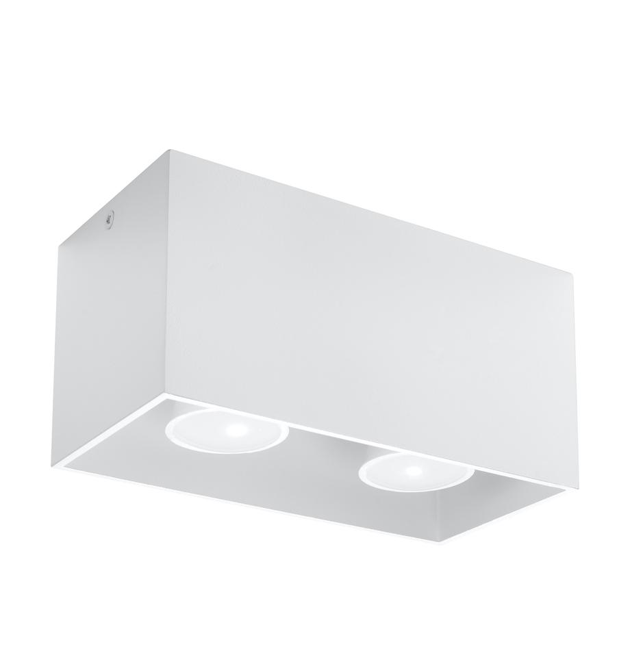 Plafón pequeño Geo, Lámpara: aluminio, Blanco, An 20 x Al 10 cm