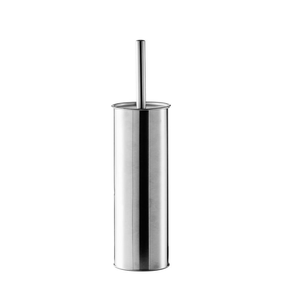 Escobilla de baño Classic, Recipiente: acero inoxidable, Interior: plástico, Acero inoxidable, Ø 10 x Al 38 cm