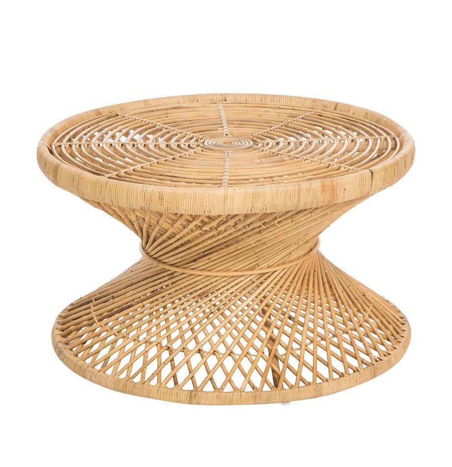 Rotan salontafel Marvel in boho stijl, Rotan, naturel, Rotan, naturel, Ø 80 x H 47 cm