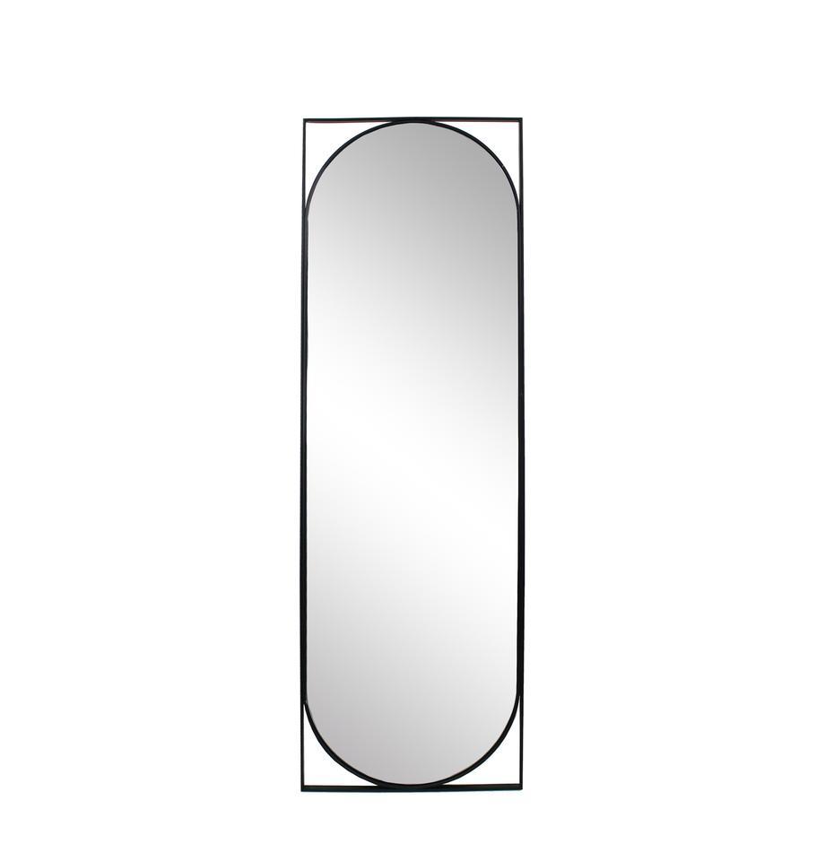 Wandspiegel Azurite, Rahmen: Metall, beschichtet, Spiegelfläche: Spiegelglas, Schwarz, 50 x 130 cm