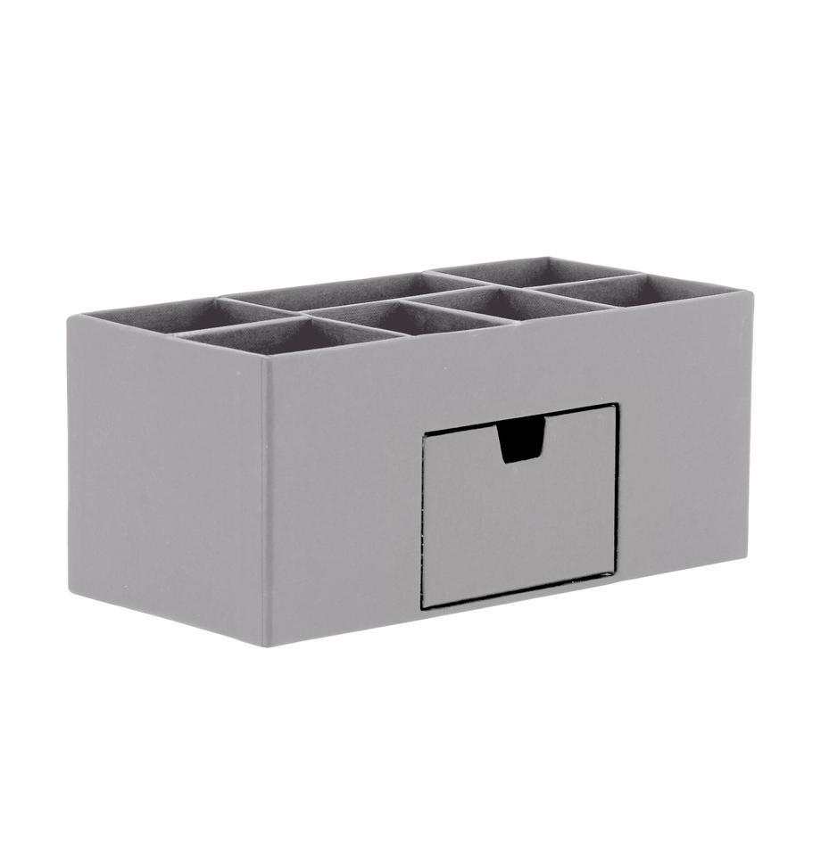 Organizador de escritorio Vendela, Cartón laminado macizo, Gris, An 24x Al 11 cm