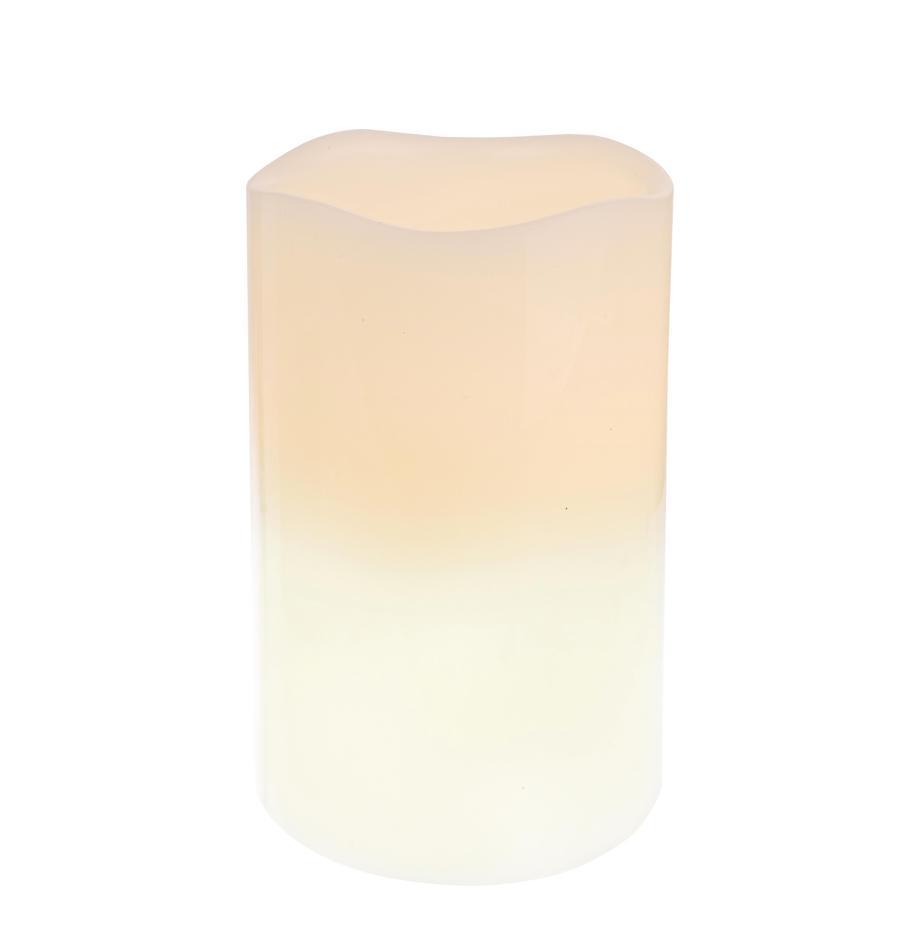 LED kaars Nadla, Beige, wit, Ø 8 x H 12 cm