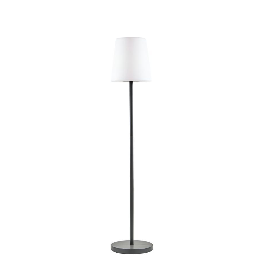 Mobile LED-Außenstehleuchte Placido, Lampenfuß: Metall, beschichtet, Lampenschirm: Kunststoff, Weiß, Schwarz, Ø 31 x H 150 cm