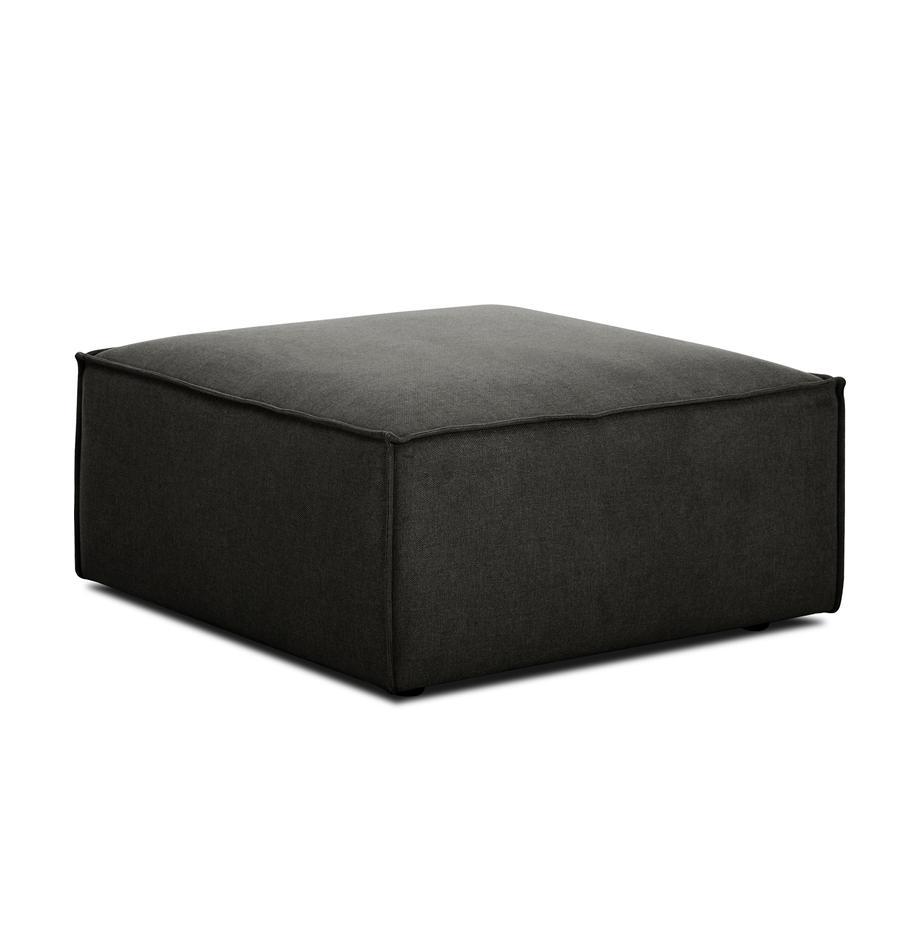 Sofa-Hocker Lennon in Anthrazit, Bezug: Polyester Der hochwertige, Gestell: Massives Kiefernholz, Spe, Füße: Kunststoff, Webstoff Anthrazit, 88 x 43 cm