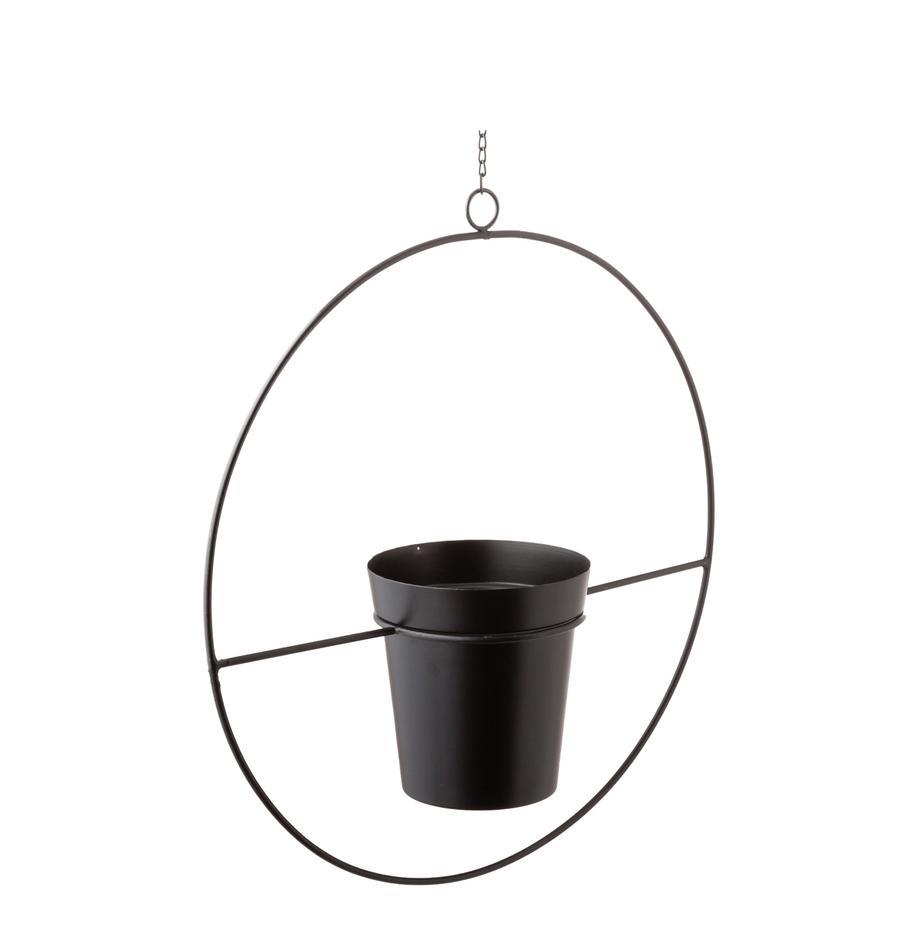 Wisząca osłonka na doniczkę XL z metalu Undine, Metal lakierowany, Czarny, S 40 x W 43 cm