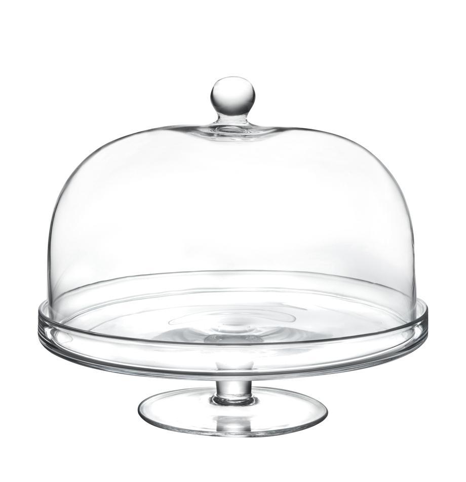 Taartplateau Lia van kristalglas, Ø 30 cm, Luxion kristalglas, Transparant, Ø 30 x H 26 cm