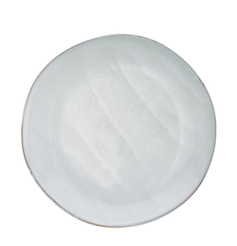 Handgemachte Steingut-Frühstücksteller Thalia in Blaugrau, 2 Stück, Steingut, Blaugrau, Ø 22 cm