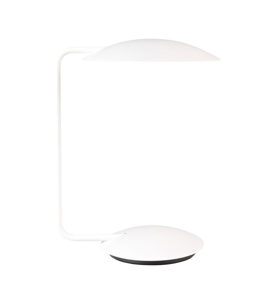 Dimbare tafellamp Pixie, Lampenkap: gepoedercoat metaal, Lampvoet: gepoedercoat metaal, Wit, 25 x 39 cm