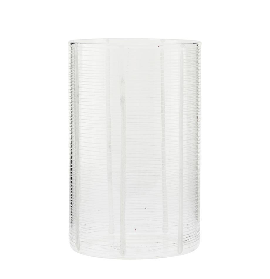 Vaso e portacandela 2in1 Ramona, Vetro, Trasparente, Ø 10 x Alt. 16 cm
