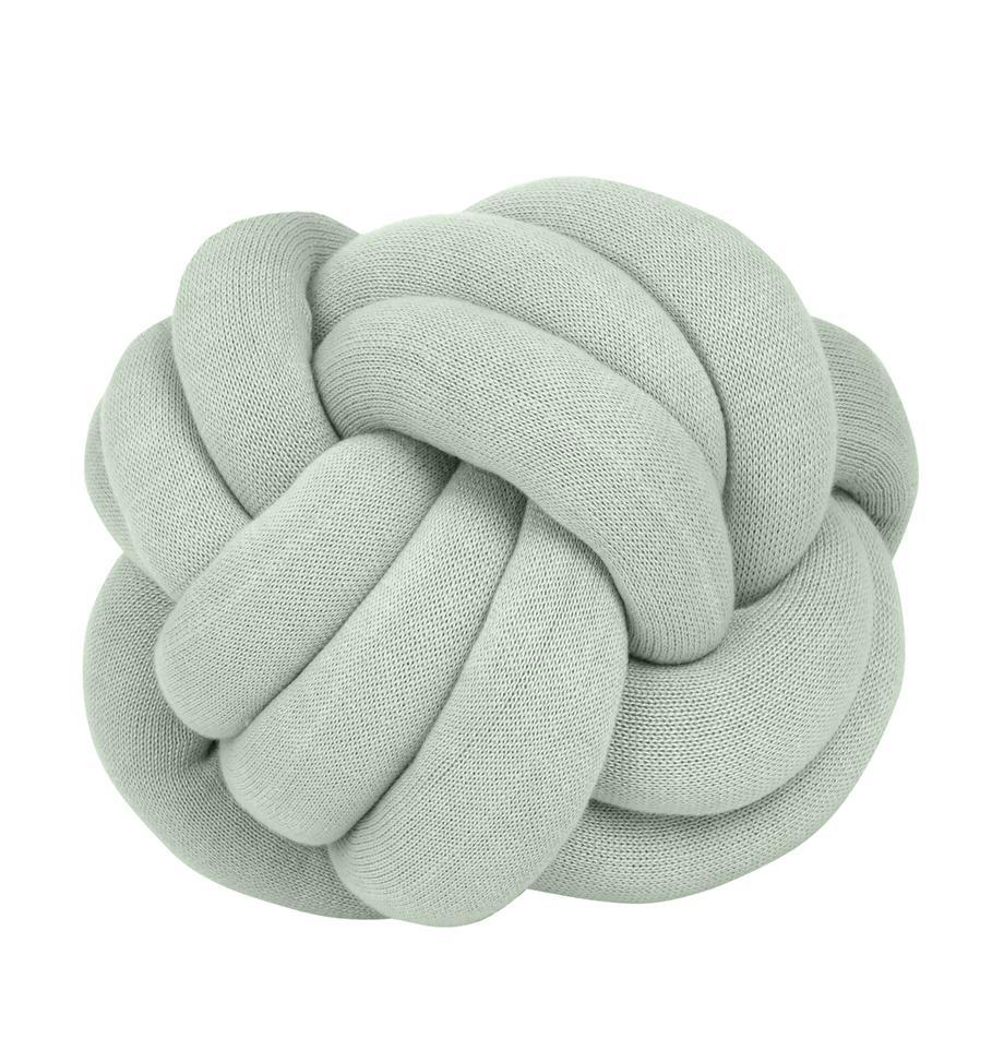 Knoten-Kissen Twist in Mintgrün, Mintgrün, Ø 30 cm