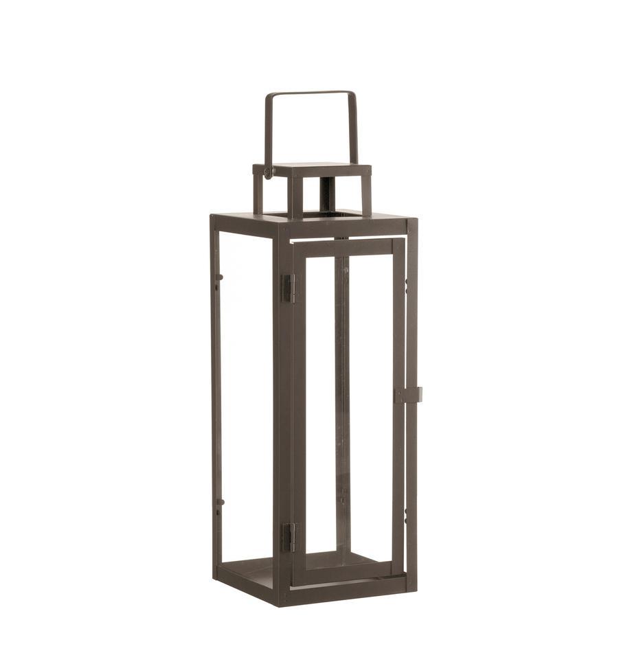 Lanterna Ragara, Cornice: metallo rivestito, Marrone, Larg. 15 x Alt. 39 cm