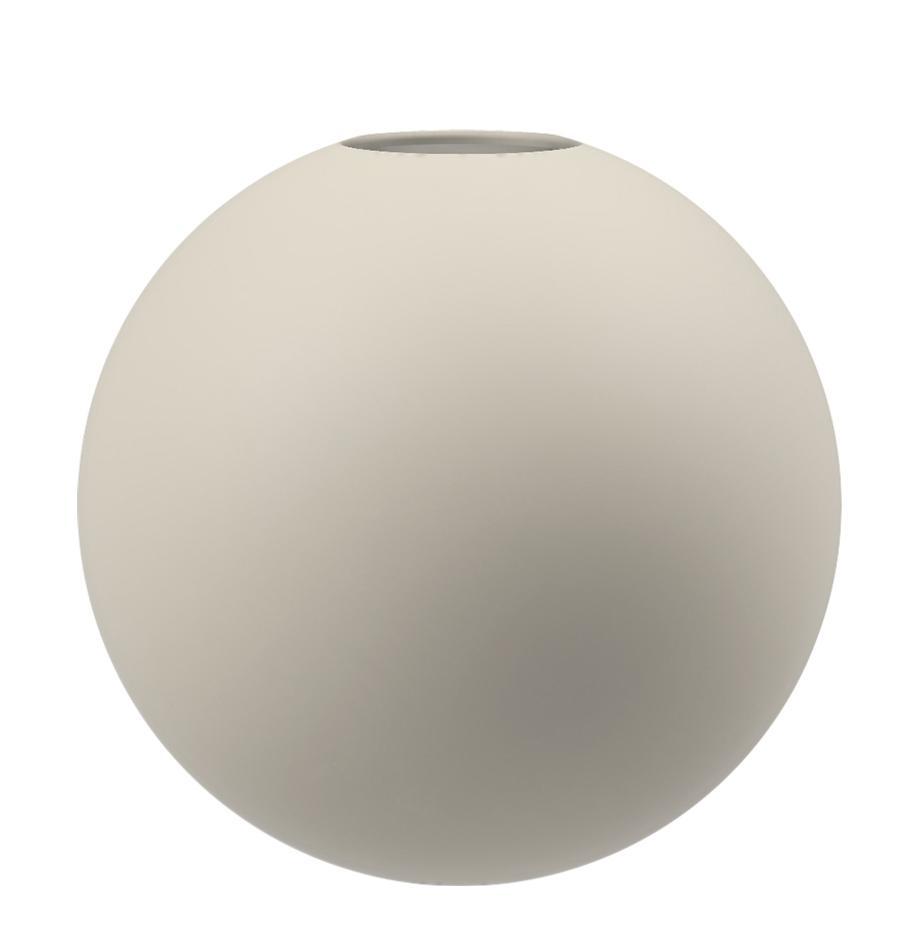 Handgefertigte Kugel-Vase Ball, Keramik, Hellbeige, Ø 10 x H 10 cm