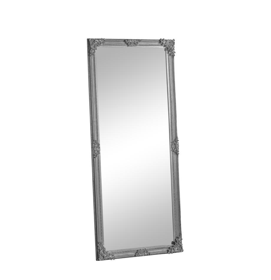 Eckiger-Anlehnspiegel Fiennes, Rahmen: Holz, lackiert, Spiegelfläche: Spiegelglas, Weiß, 70 x 160 cm