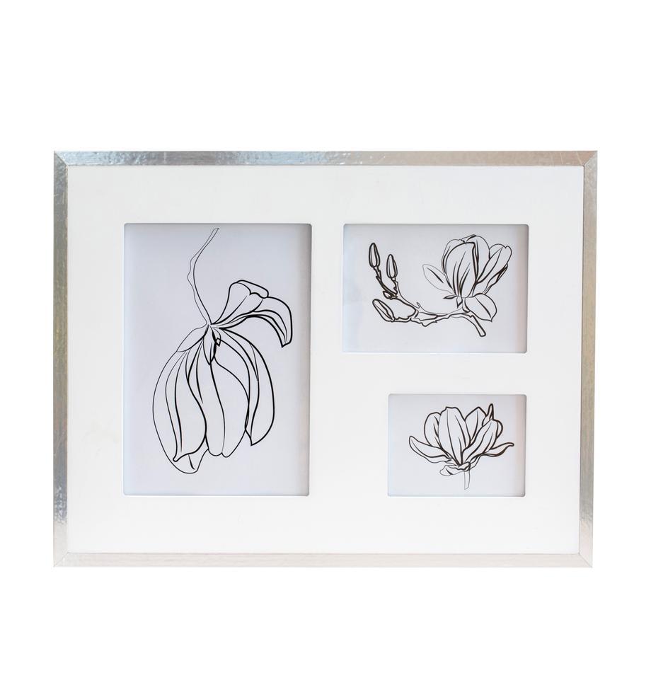 Ramka na zdjęcia Austin Flowers, Odcienie srebrnego, Komplet z różnymi rozmiarami