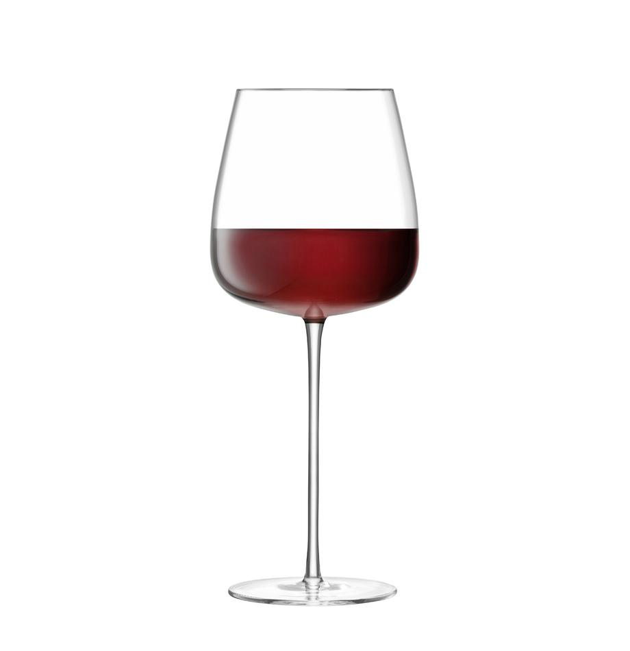 Copas de vino tinto soplados artesanalmente Wine Culture, 2uds., Vidrio, Transparente, Ø 11 x Al 26 cm