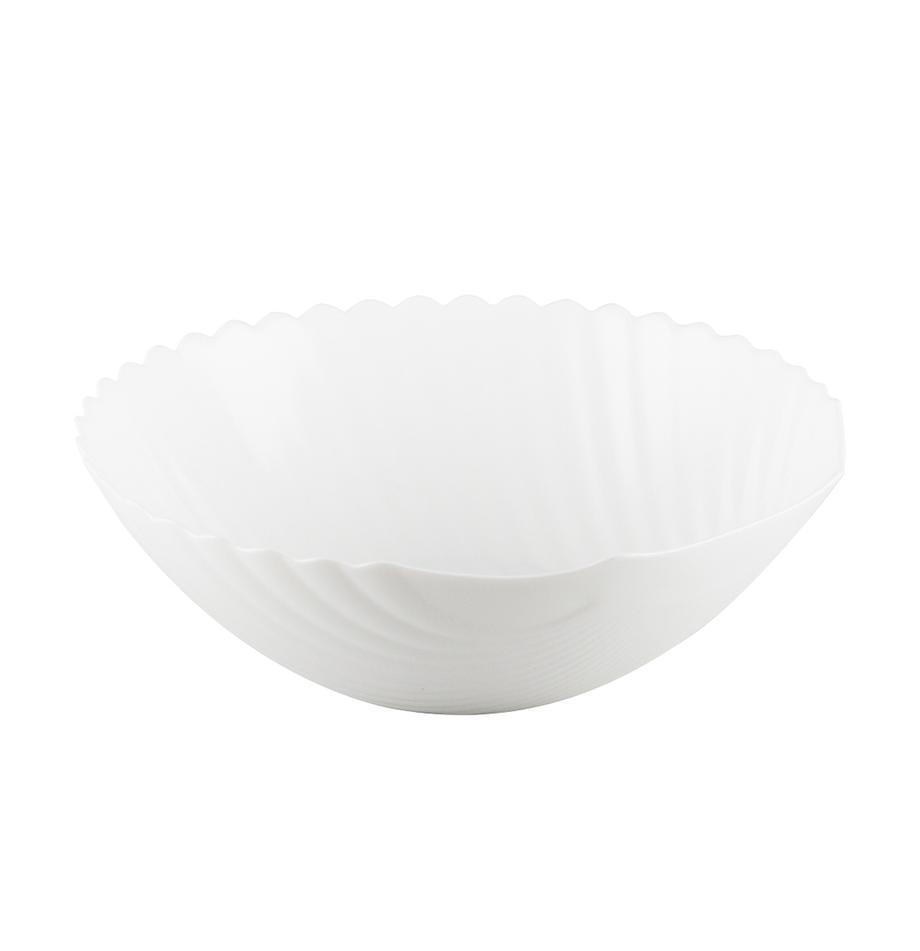 Glas-Schüssel Shell in Muschelform, Ø 24 cm, Glas, Weiss, Ø 24 x H 8 cm