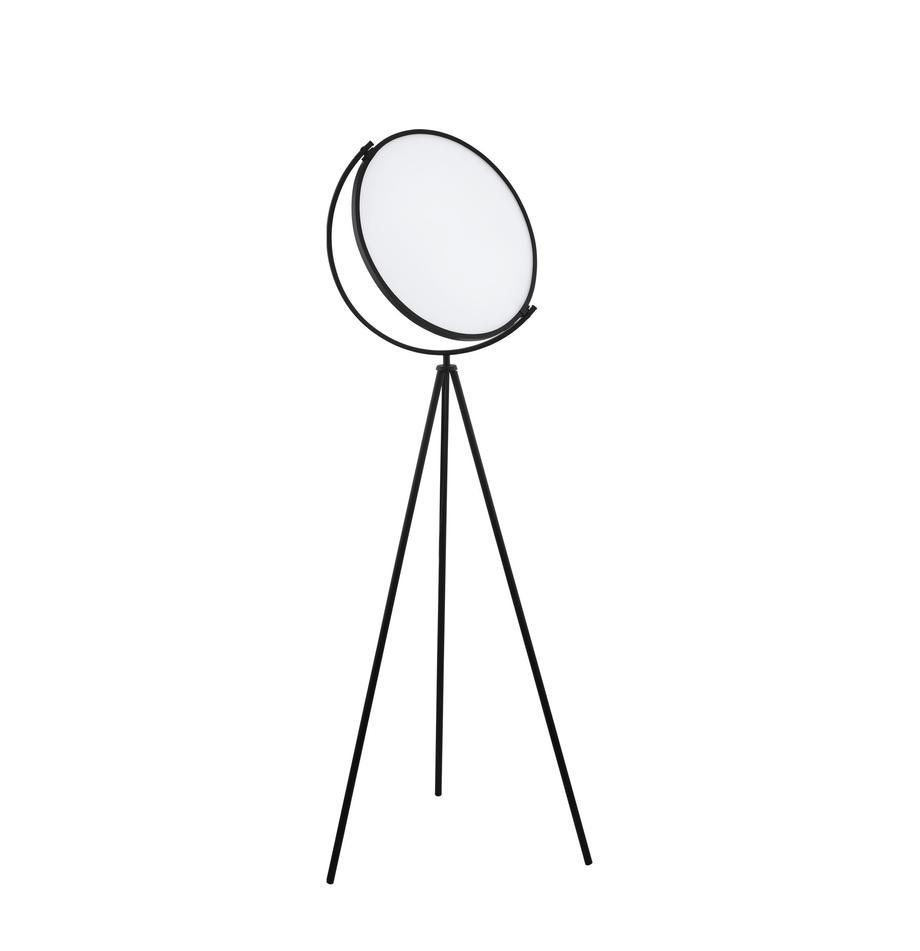 LED-Tripod Stehlampe Renitale, Diffusorscheibe: Kunststoff, Lampenfuß: Metall, lackiert, Schwarz, Ø 43 x H 153 cm