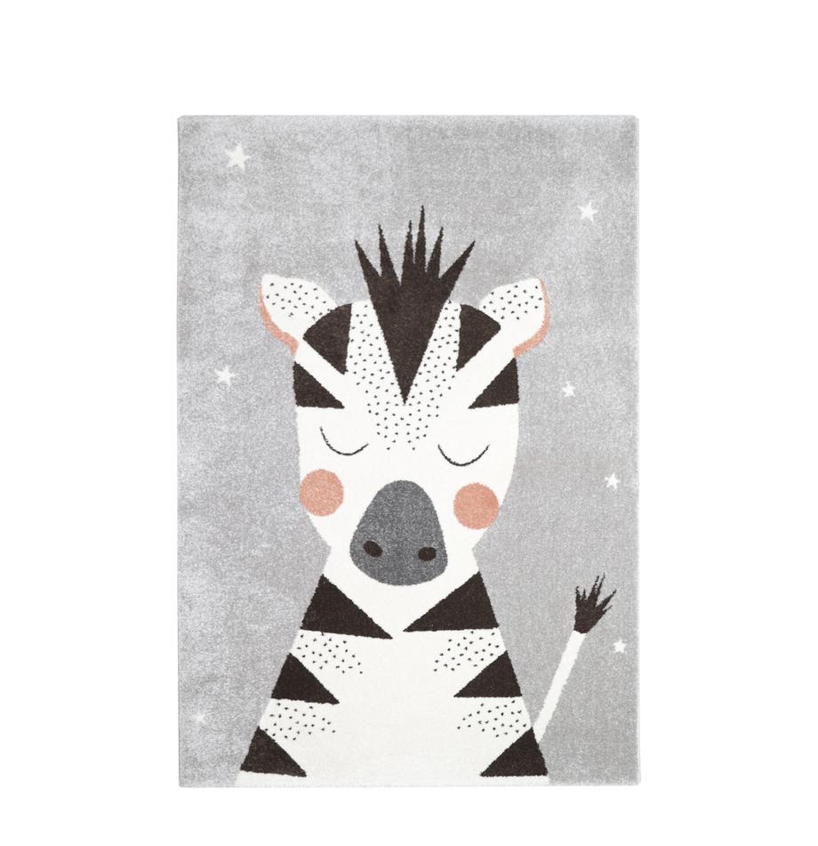 Alfombra Kika, Polipropileno, Gris, negro, blanco, rosa, An 120 x L 170 cm