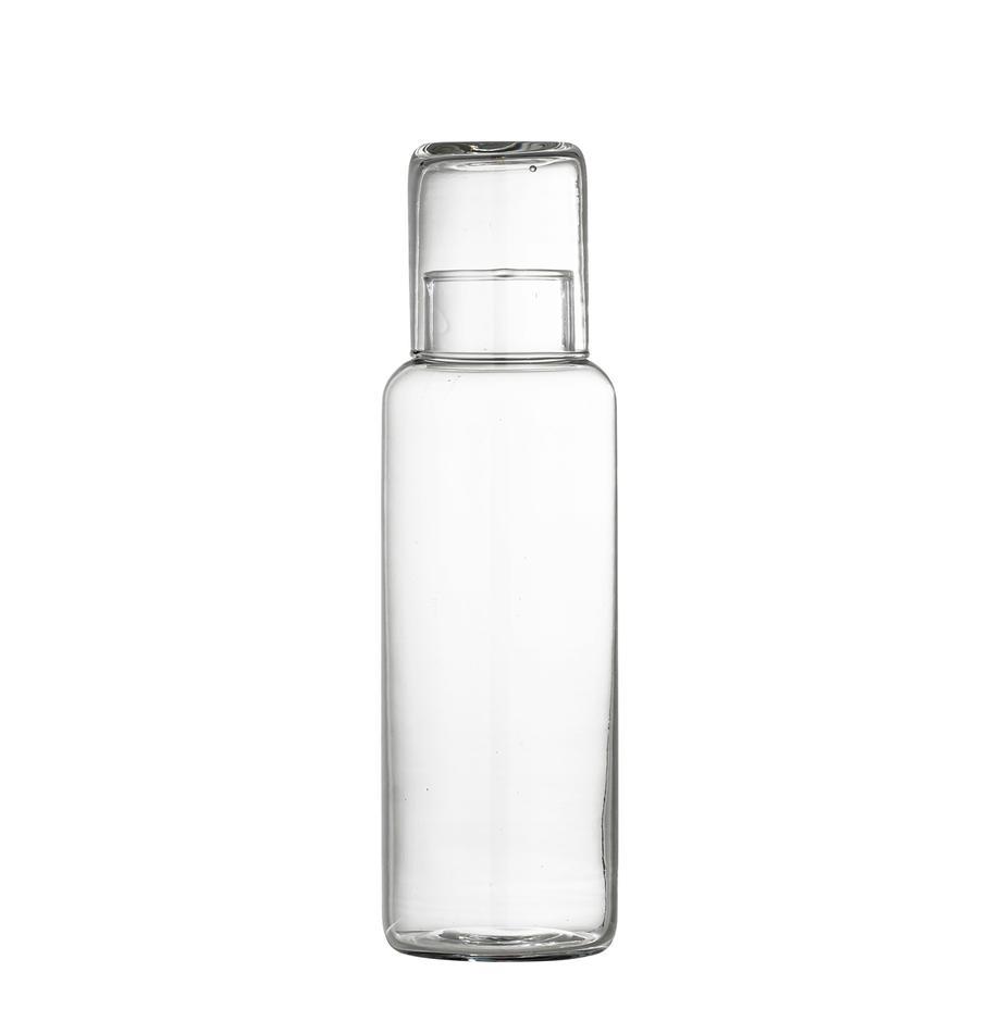 Karaffe Luna mit Trinkglas, 1 L, Glas, Transparent, 1 L