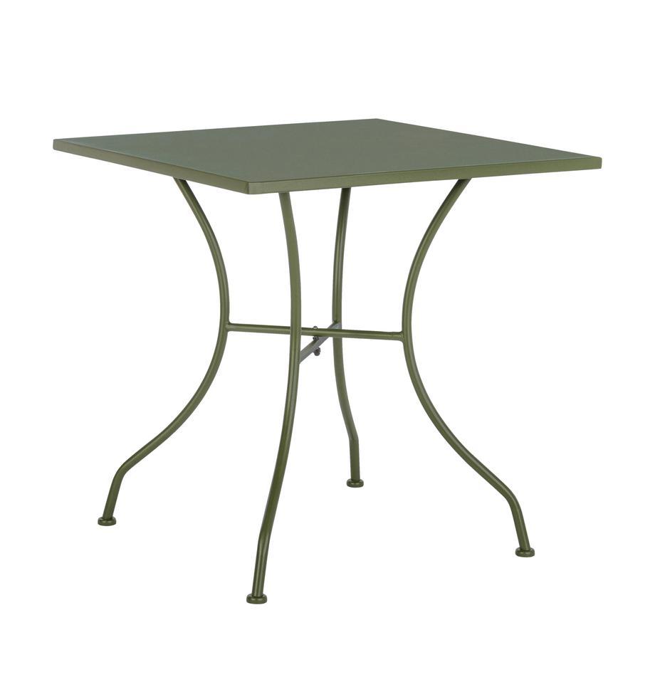 Stół ogrodowy z metalu Kelsie, Metal malowany proszkowo, Zielony, S 70 x G 70 cm