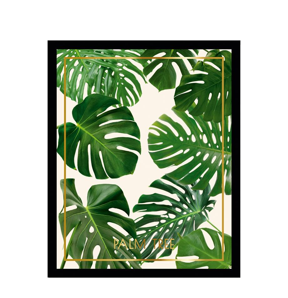 Stampa digitale incorniciata Palm Tree II, Immagine: stampa digitale, Cornice: telaio in materiale sinte, Multicolore, L 40 x A 50 cm