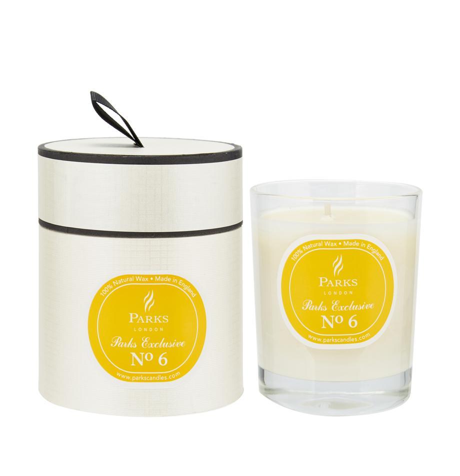 Vela perfumada Exclusive No 6 (lima & limón), Recipiente: vidrio lechoso, Naranja, blanco, Ø 8 x Al 9 cm