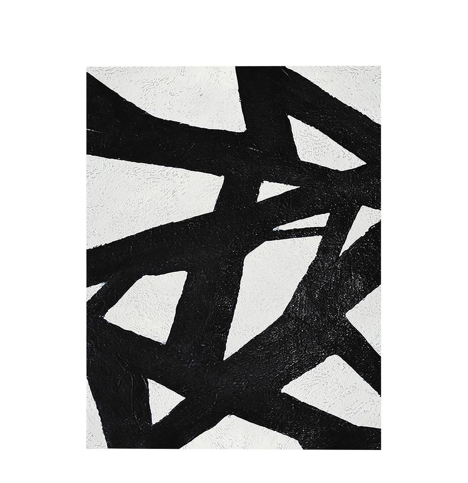 Leinwanddruck Roads, Bild: Digitaldruck auf Leinen, Schwarz, Weiß, 60 x 80 cm