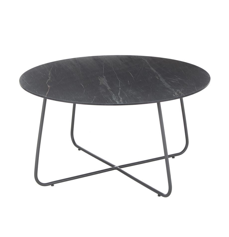 Mesa de centro para exterior Taverny, Tablero: laminado de Alta Presión , Estructura: aluminio con pintura en p, Gris oscuro, Ø 65 x Al 43 cm