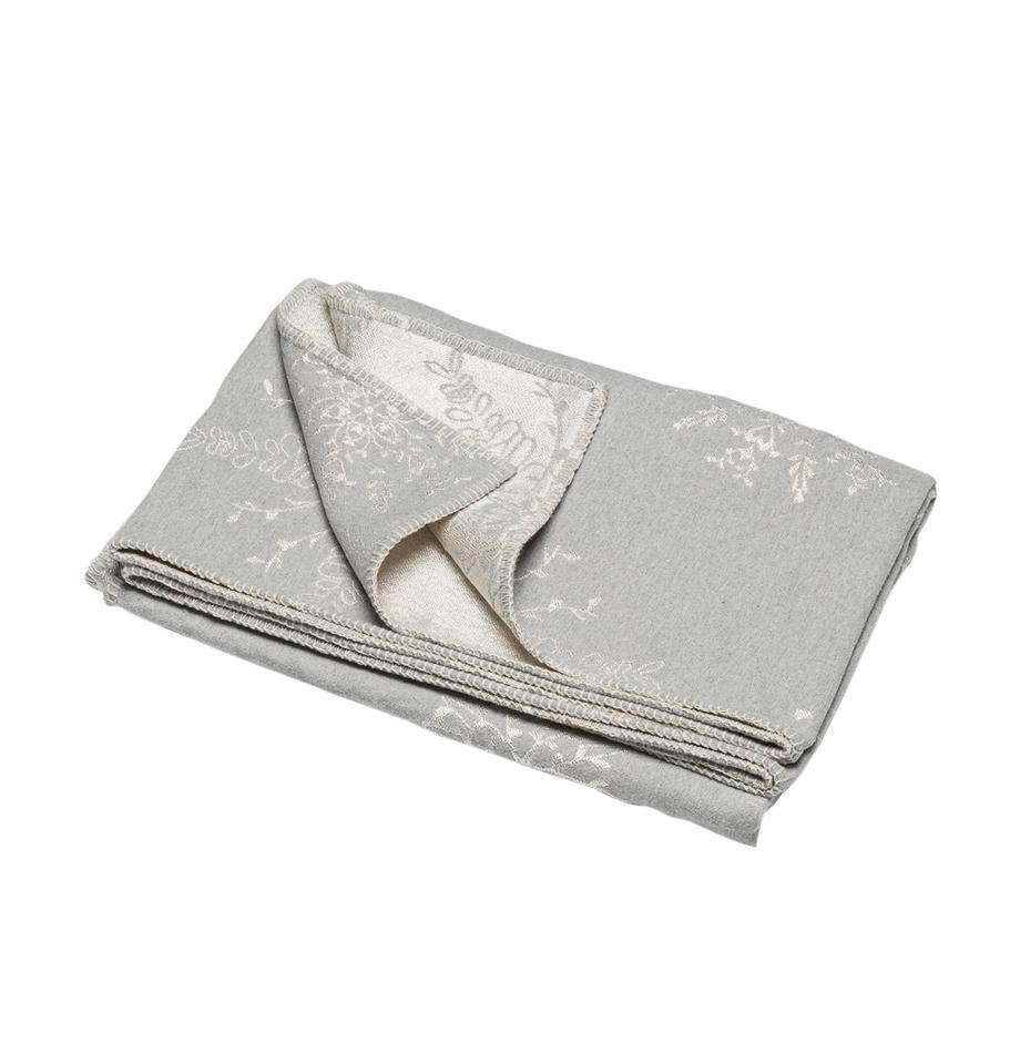 Manta Diva, Tapizado: 85%algodón, 8%viscosa, , Gris, beige, An 140 x L 220 cm