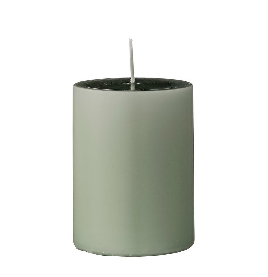 Candela pilastro Lulu 4 pz, Cera, Verde chiaro, Ø 7 x Alt. 10 cm
