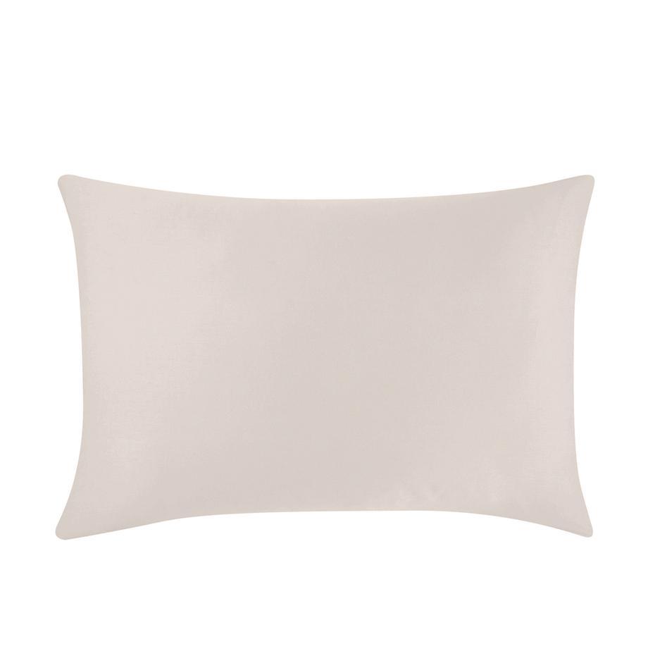 Funda de almohada de satén Comfort, Gris pardo, An 50 x L 70 cm