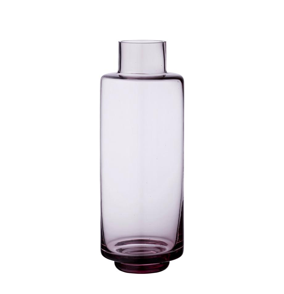 Jarrón de vidrio soplado Hedria, grande, Vidrio, Rosa, Ø 11 x Al 30 cm