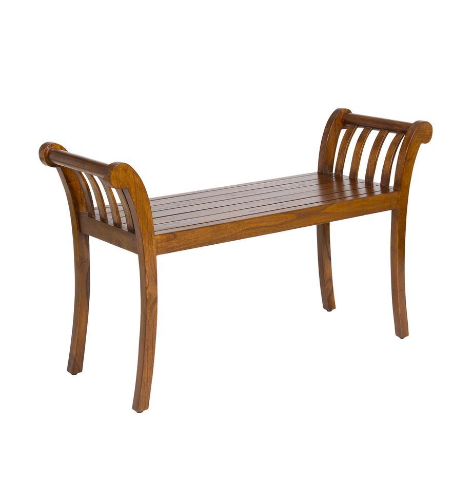 Sitzbank Corwin aus Akazienholz, Akazienholz, gebeizt und lackiert, Dunkelbraun, 105 x 64 cm