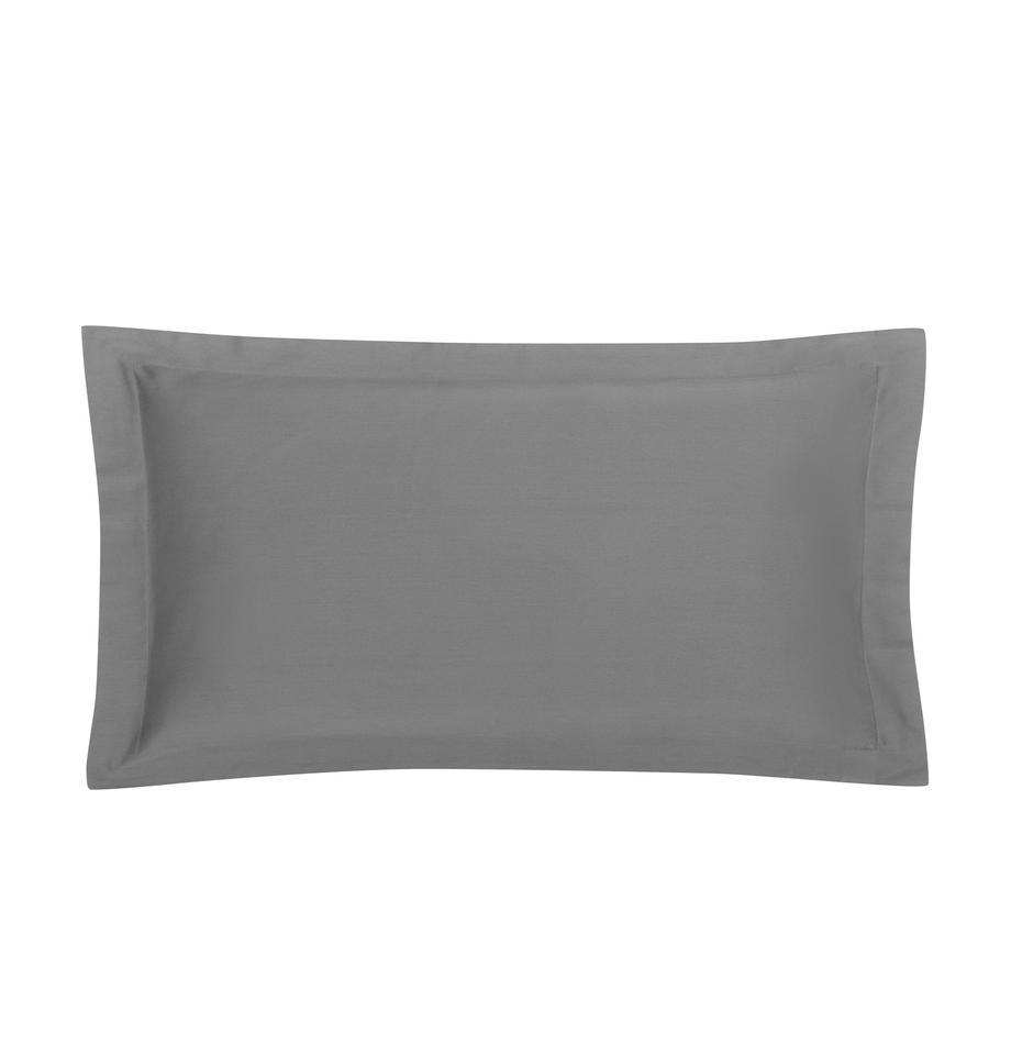 Funda de almohada de satén Premium, Gris oscuro, An 45 x L 85 cm
