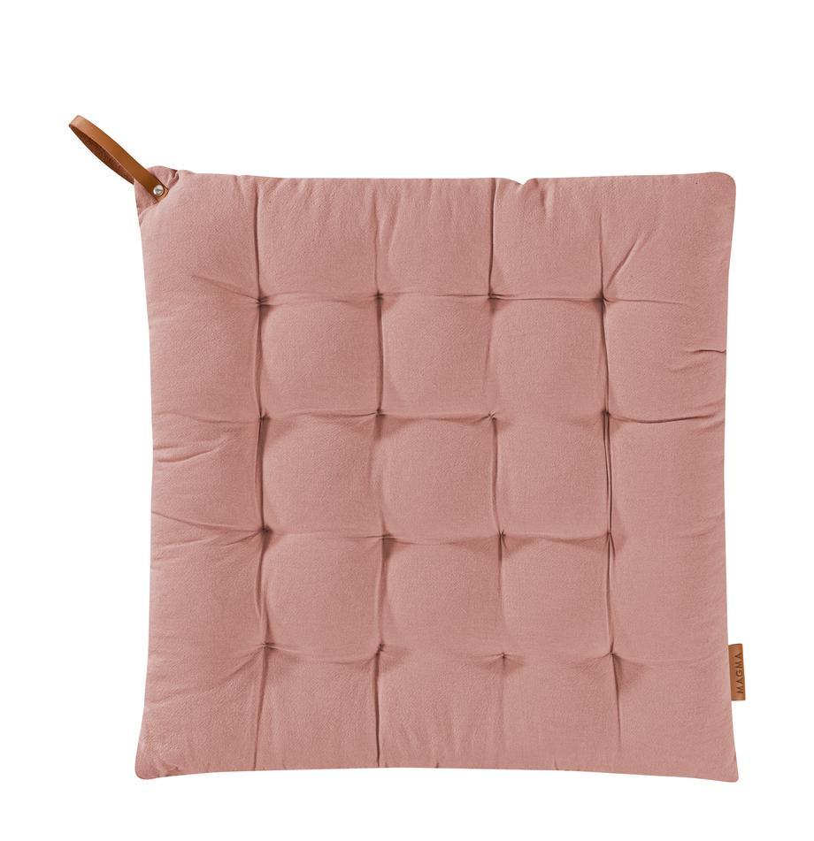 Poduszka na siedzisko Billie, Bawełna, Brudny różowy, S 40 x D 40 cm