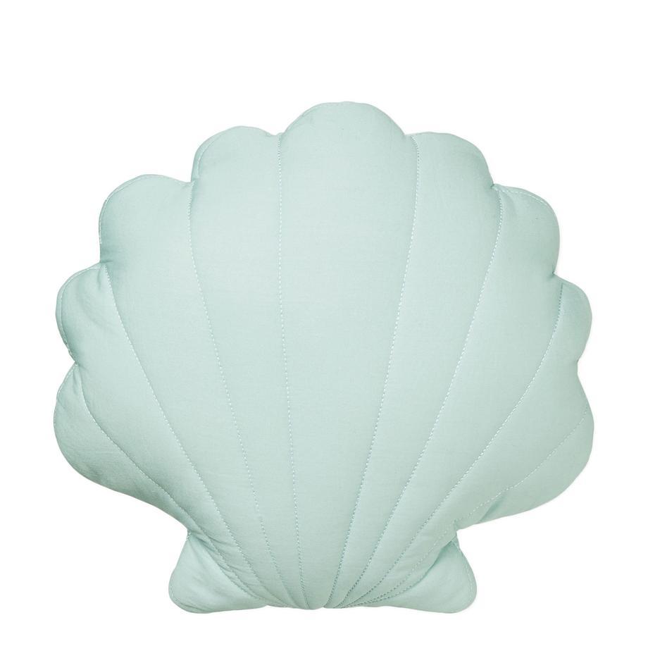 Kissen Sea Shell aus Bio-Baumwolle, mit Inlett, Bezug: 100% Biobaumwolle, Öko-Te, Mintgrün, 28 x 39 cm
