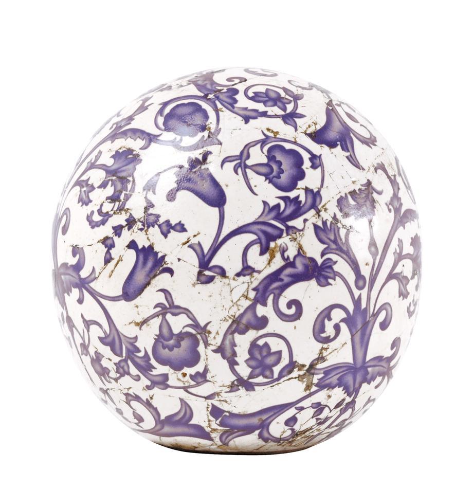 Dekoracja z ceramiki Cerino, Ceramika, Niebieski, biały, Ø 13 x W 13 cm