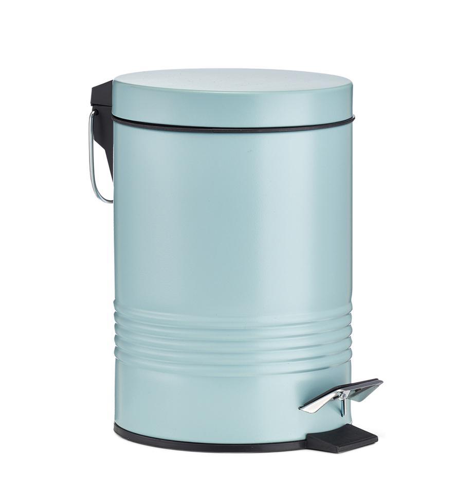 Papelera de baño Sam, Verde menta, Ø 16 x Al 25 cm