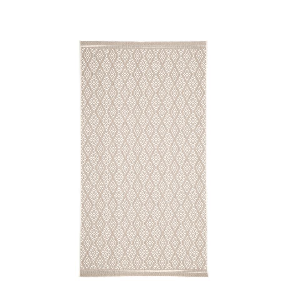 In- & Outdoor-Teppich Capri in Beige/Creme, 86% Polypropylen, 14% Polyester, Cremeweiss, Beige, B 80 x L 150 cm (Grösse XS)