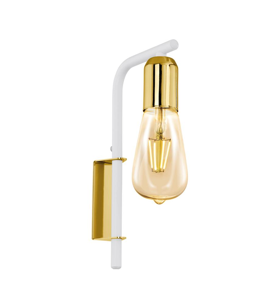 Kinkiet z wtyczką Adri, Stal lakierowana, Biały, odcienie złotego, S 4 x W 26 cm