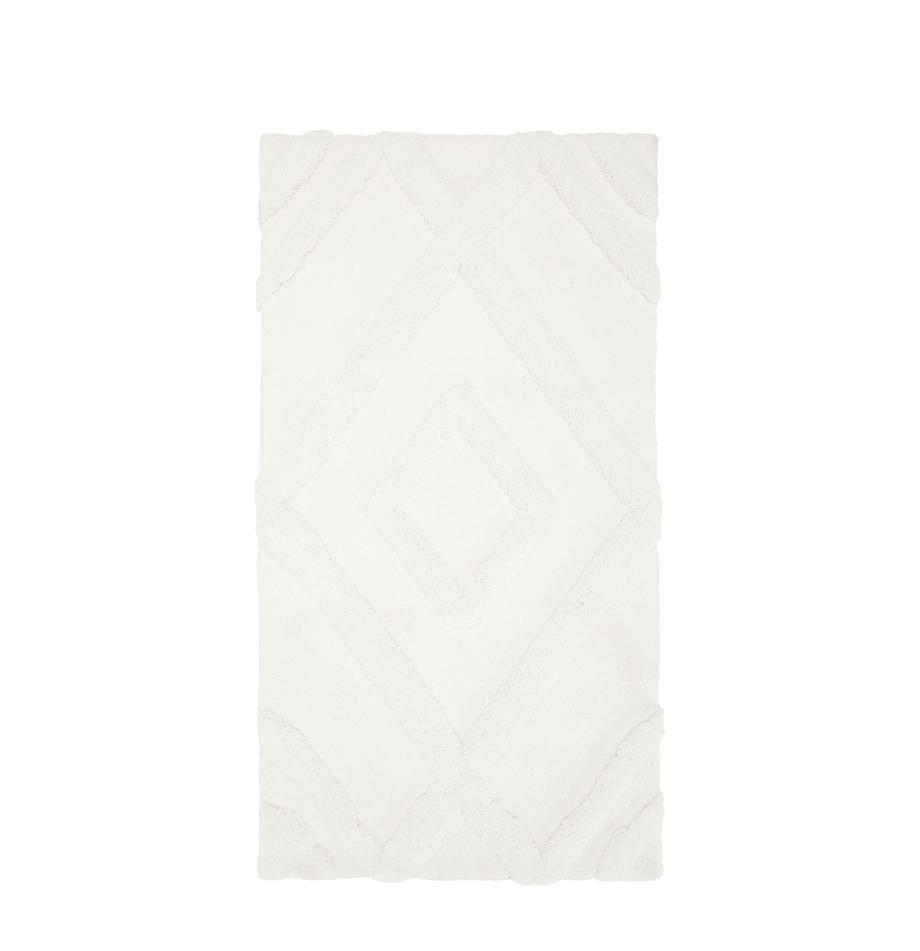 Flauschiger Boho Hochflorteppich Magda mit erhabener Hoch-Tief-Struktur, Flor: 100% Polyester (Mikrofase, Beige, B 80 x L 150 cm (Größe XS)