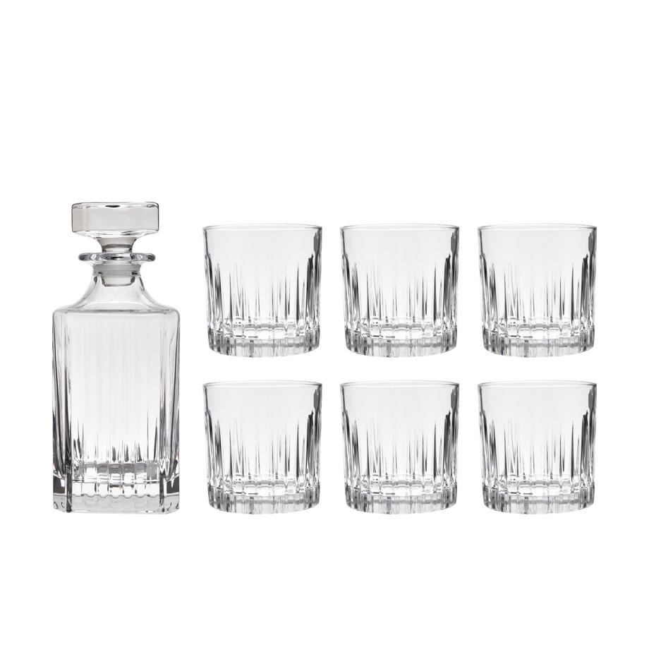 Set whisky in cristallo Timeless 7 pz, Cristallo Luxion, Trasparente, Set in varie misure