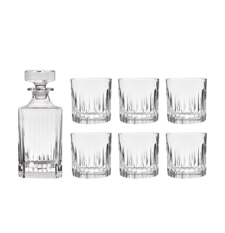 Kristallen wiskeyset Timeless, 7-delig, Kristalglas, Transparant, Set met verschillende formaten