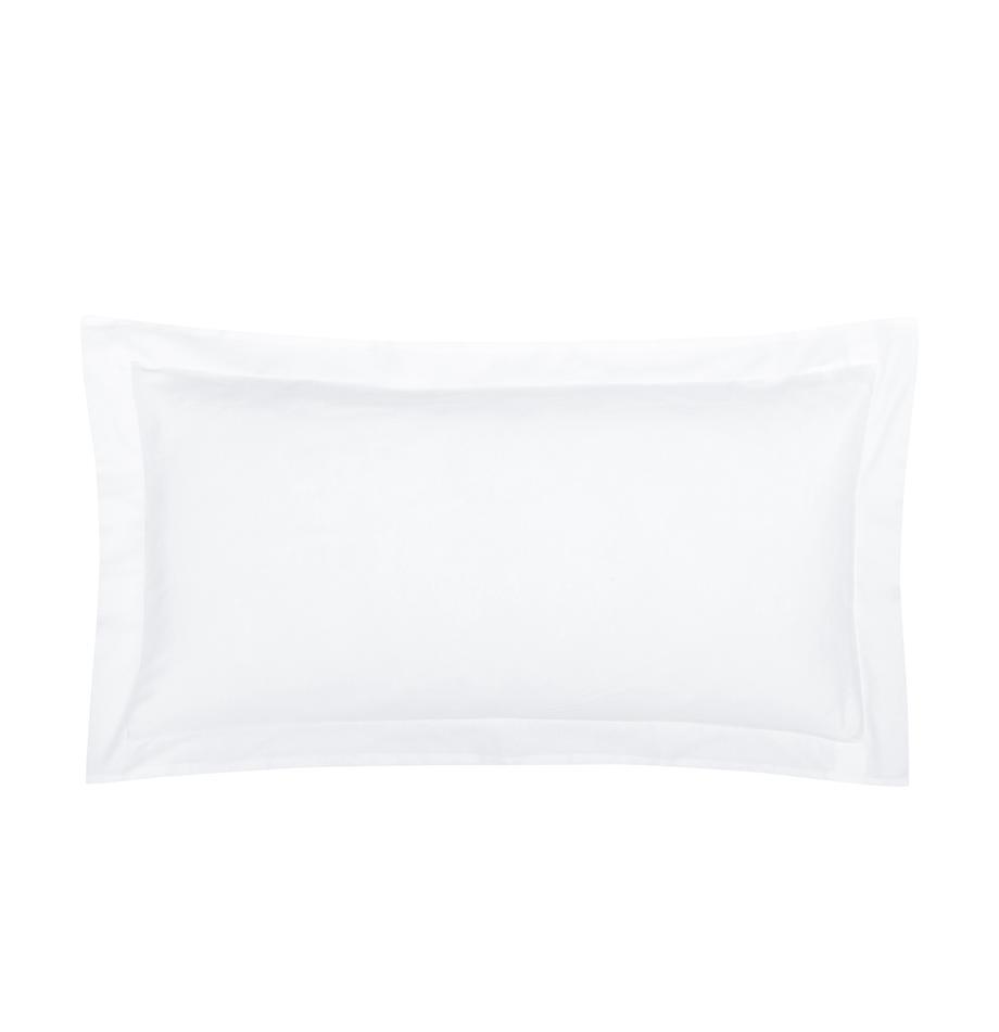 Baumwollsatin-Kissenbezüge Premium in Weiss mit Stehsaum, 2 Stück, Webart: Satin Fadendichte 400 TC,, Weiss, 40 x 80 cm