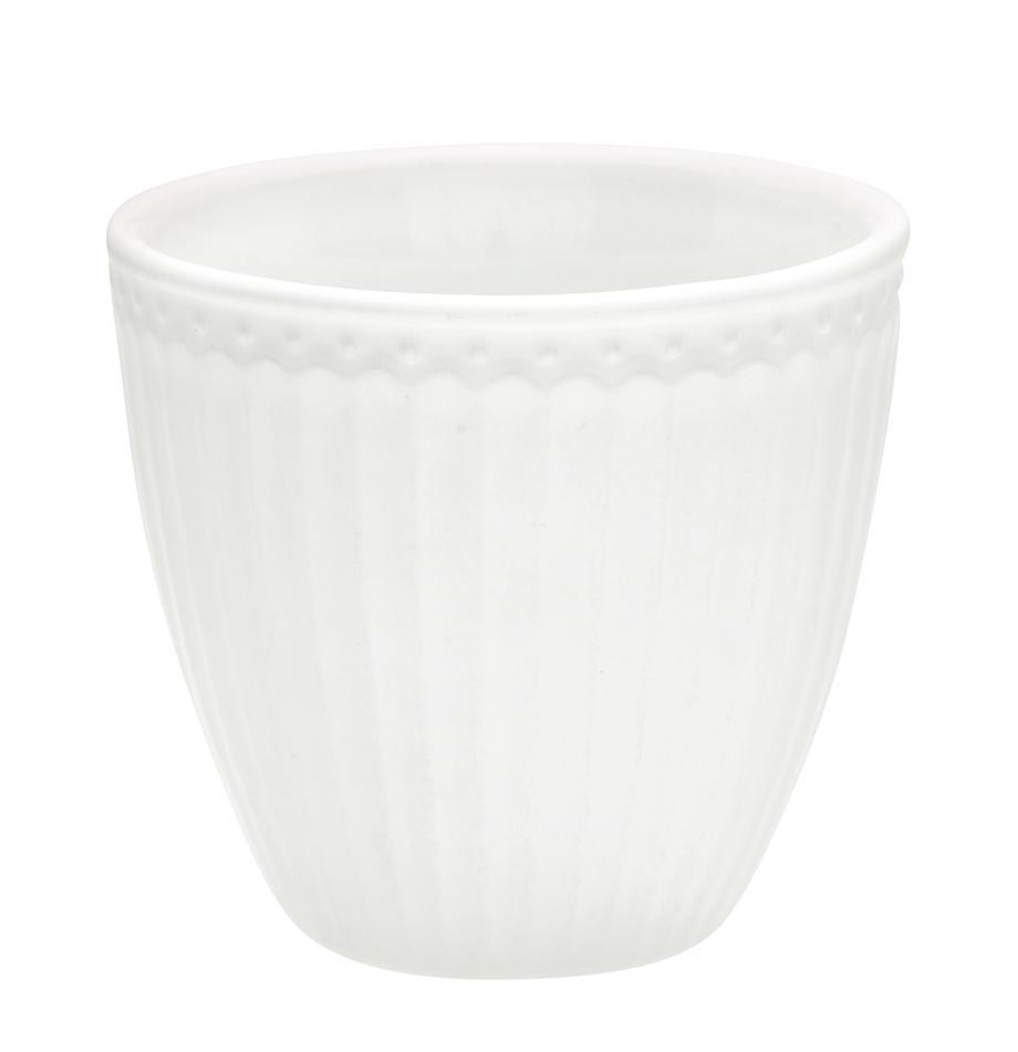 Ręcznie wykonany kubek Alice, 2 szt., Kamionka, Biały, Ø 10 x W 9 cm